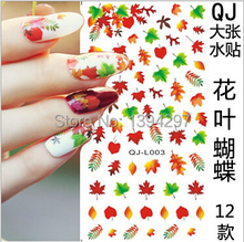 Canada Maple leaf autumn Fall DIY Tip Nail Art Decal Nail Sticker Gel Nails Castle Bunny Butterfly Beauty Salon Vocation