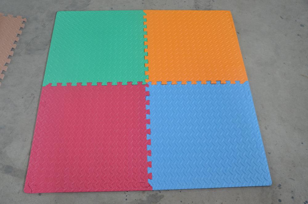 60cm 1 2cm Baby Jigsaw Puzzle Mats Leaf Pattern Foam Floor