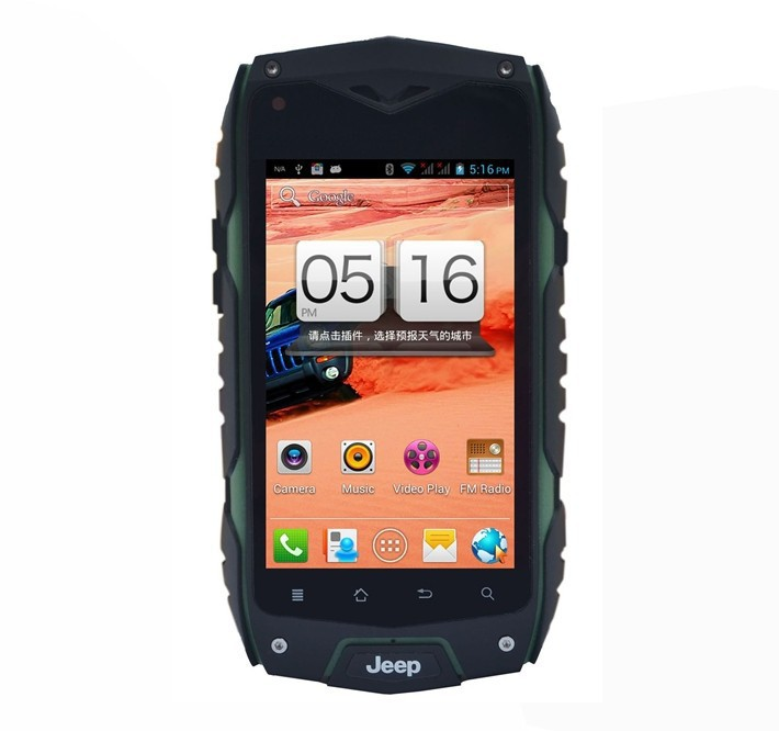 """Jeep Z6 IP68 dustproof waterproof WCDMA 3G Android Smart mobile Phone Shockproof GPS zug3 4"""" screen outdoor Rugged Cell phone(China (Mainland))"""