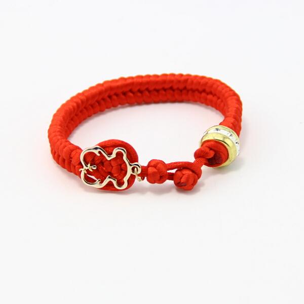 BB0145 New design handmade woven red string bracelet, women and girls bear cute Pierced bracelet !