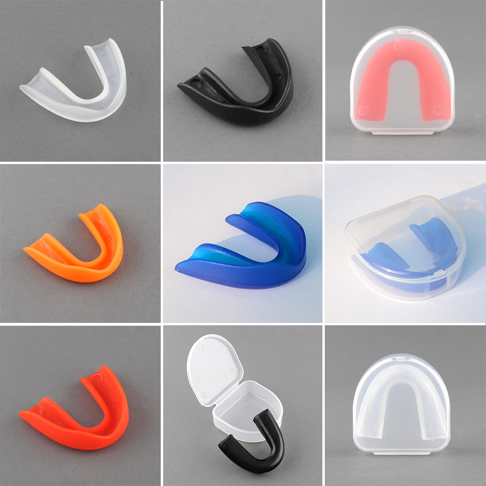 Sports Mouth Guard Gum Shield Grinding Teeth Protect For Boxing 5 Colors Free Shipping Free Shipping(China (Mainland))