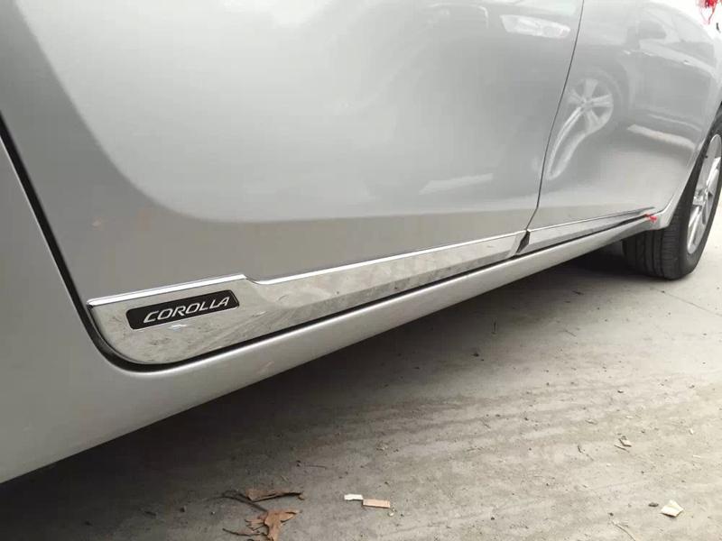 1 2 3 & Side Door Body Moulding Trim Protector For 2014 2015 Toyota ...