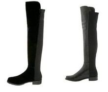 Europe and the United States and small chili shoes knee boots boots with flat thigh boots