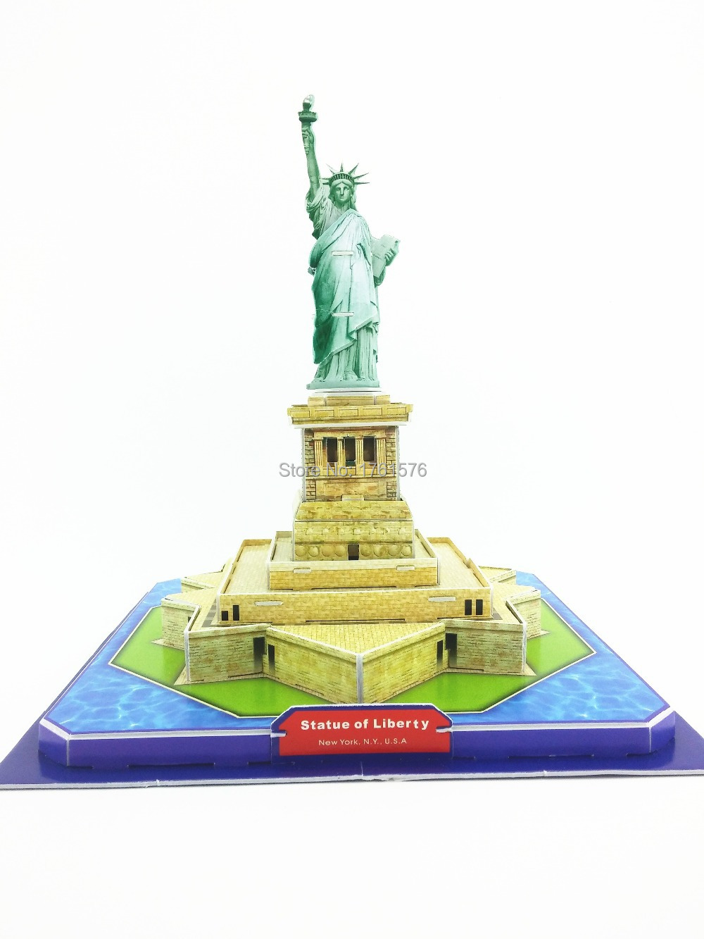 Coolest Statue of Liberty 3D Puzzle Jigsaw DIY 26*26*23cm Educational Baby Shower Kid Toys Party Favor Gift FREE SHIPPING 2801B(China (Mainland))