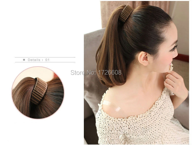 Velcro Ponytail Extension Human Hair Extensions