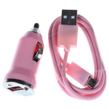 Buy Pink Car Charger+Micro USB Cable iPhone 5 4 4S iPad Mini Samsung Galaxy S4 i9500 S IV S3 S III i747 Universal for $1.26 in AliExpress store