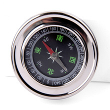 Buy Waterproof outdoor sports compass camping portable portable iron pocket gold fluorescent compass navigation for $2.68 in AliExpress store