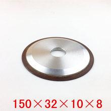 Oblicua cara muela abrasiva abrasiva herramienta de carburo inserta categoría resina de la aleación de la especificación es de 150 * 32 * 10 * 8