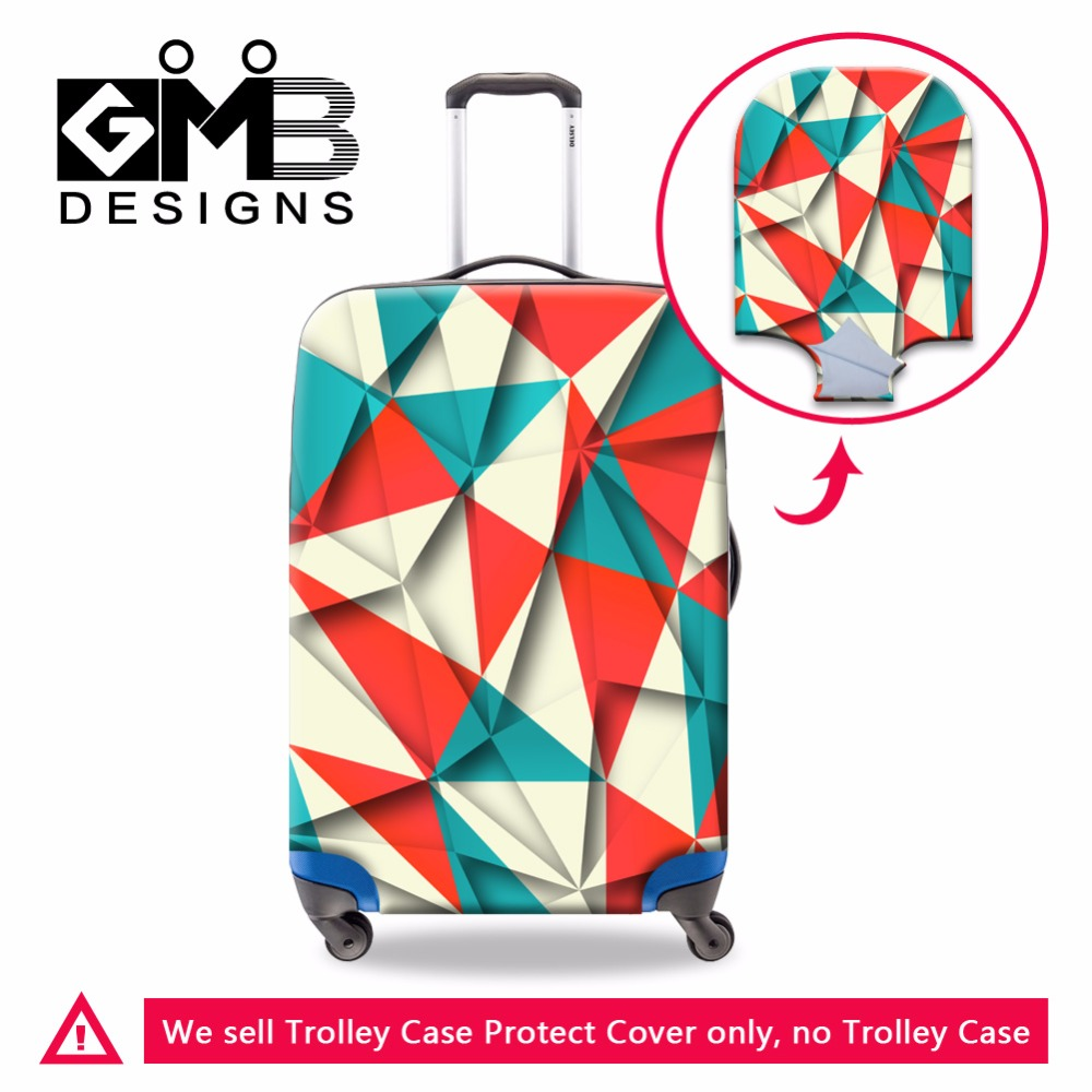 Personalized Colorful Luggage Covers Geometric designs Waterproof Suitcase Covers Luggage Protectors for Traveling Accessories(China (Mainland))