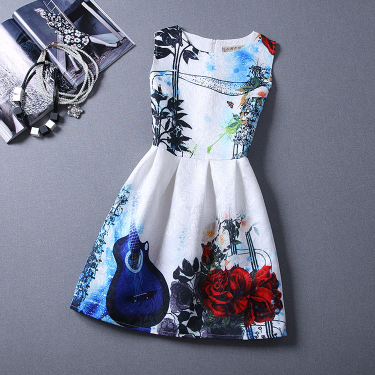 Girls formal dresses Teens designer Print flower Butterfly sleeveless dress easter holiday girl costume vestidos infantis HA242(China (Mainland))