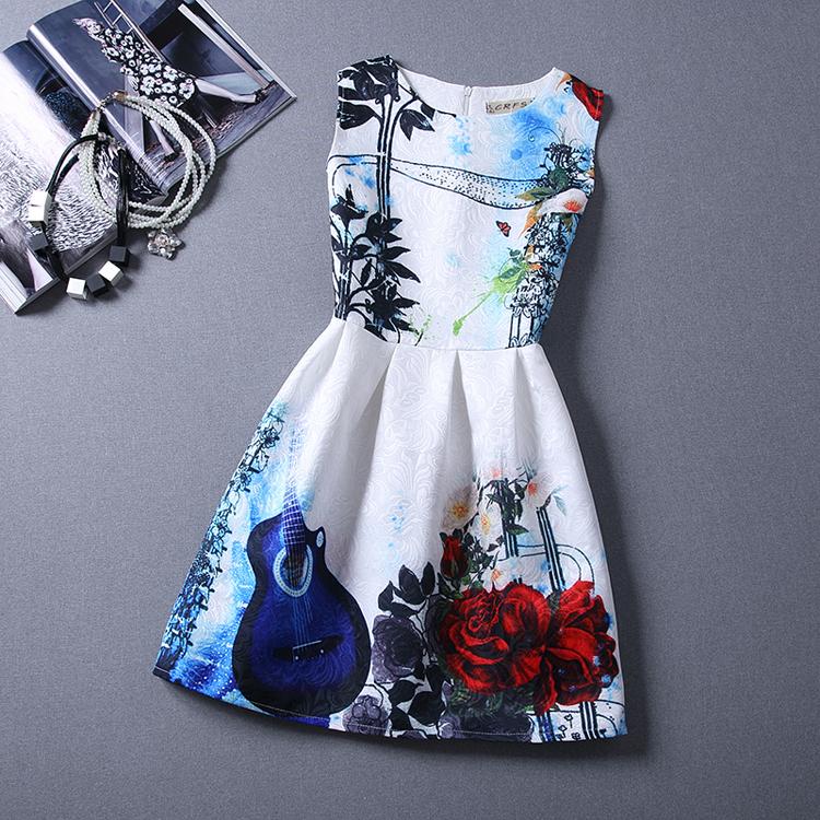 Girls formal dresses Teens designer Print flower Butterfly sleeveless dress easter holiday girl costume vestidos infantis HA242(China (Mainland))