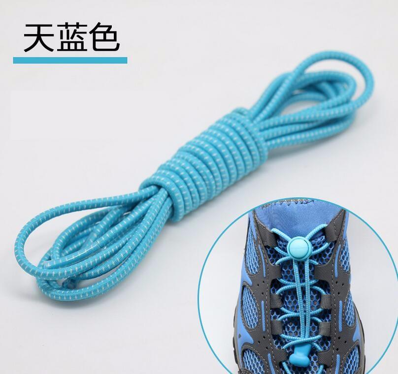 2017 New Striped Cotton Elastic Shoelaces Lazy Fashion Must Lock Laces 16 Colors Simple Safe Sneaker Shoe Laces Elastic