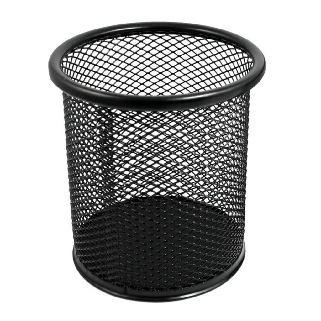 COFA 2 Pcs Mesh Rectangle Cylinder Stationery Holder Box Container Black<br><br>Aliexpress