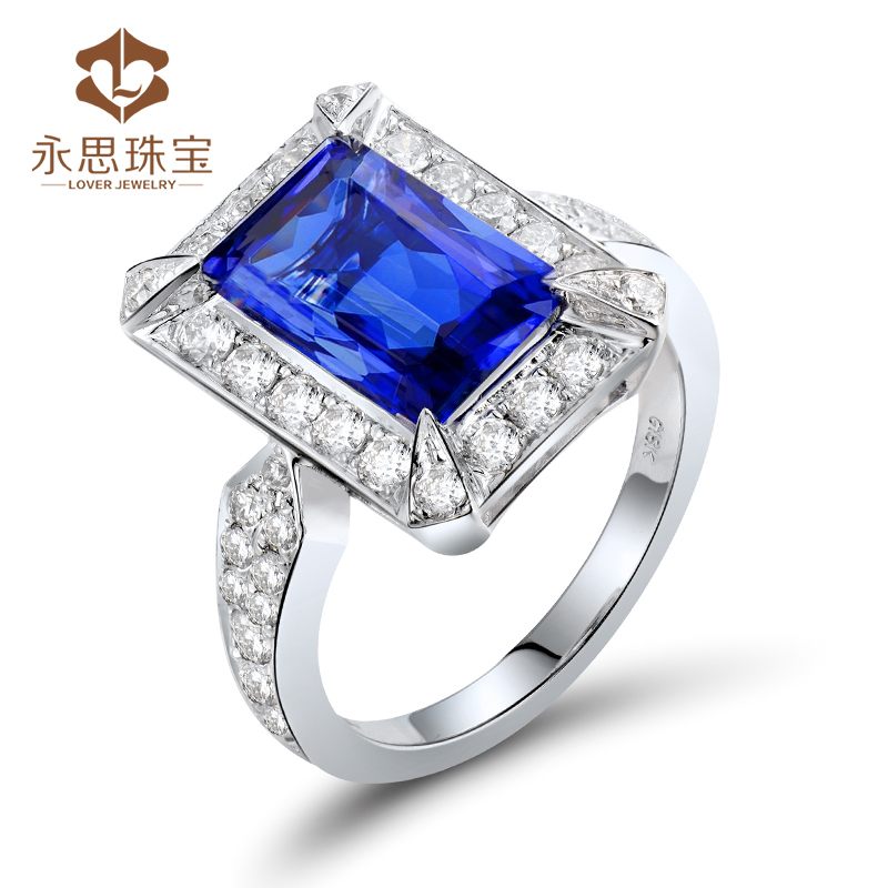 solid 18k white gold 3 97ct aaa tanzanite wedding