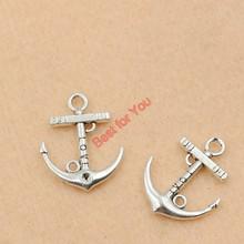 Anchor Charm Mixed Tibetan Silver Tone Rudder Fashion Pendants Jewelry Diy Jewelry Making 10pcs c016