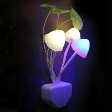 HOT Avatar Round Head Plug Electric Induction Dream Mushroom Fungus Lamp,LED Lamp 220V 3 LEDs,Mushroom Lamp led night lights(China (Mainland))