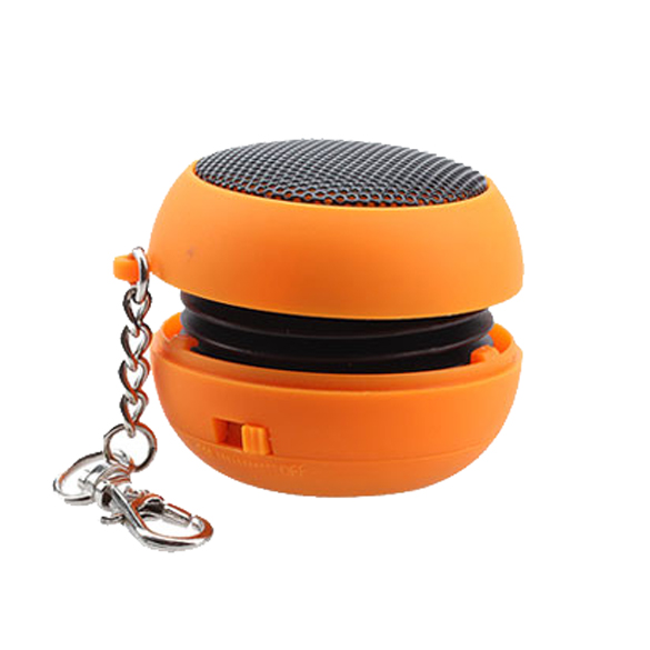 NEW Mini Portable Orange Rechargeable Speaker For PC Laptop iPod MP3(China (Mainland))