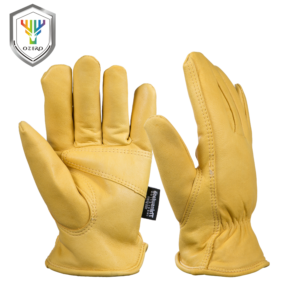 Inexpensive leather work gloves - New Men 39 S Work Gloves Goat Leather Security Protection Safety Workers Working Welding