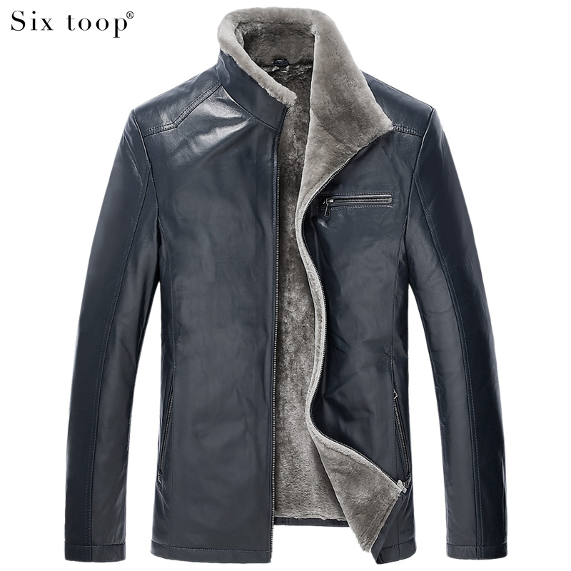 Luxury brief goatskin fur coat high end leather clothing for High end men s shirts