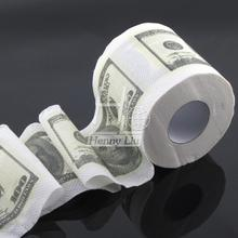 1pc One Hundred Dollar Bill Money Toilet Roll -  Toilet Paper Novelty Toilet Tissue(China (Mainland))