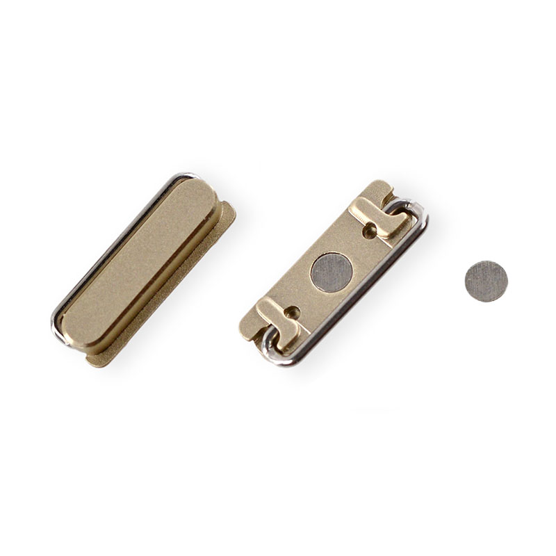 !NEW GENUINE GOLD TOP POWER SWITCH BUTTON + INNER CONTACT REPAIR PART for IPHONE 5s