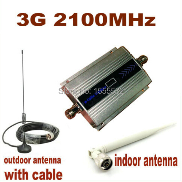 10m Cable+Antenna,3G Booster/Repeater/Amplifier/Receivers,WCDMA booster 2100MHZ Cell Phone Signal Repeater/Amplifier/Booster.(China (Mainland))