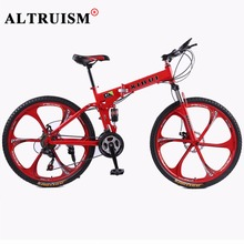 Buy Altruism 21 Speed Mountain Bike Complete A1 Folding Bicycle 26 Inch Black Supplier Bikes Magnesium Alloy Wheels Road Bikes for $389.98 in AliExpress store