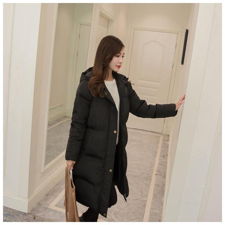 Скидки на Новый Зимний Женщин Хлопка Куртка С Капюшоном Утолщение Супер теплый Средней Длины Пальто С Длинными рукавами Свободные Плюс размер Парки NZ425