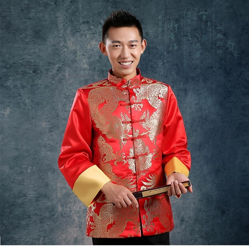 Dragon pattern chinese traditional men clothing Chinese ...