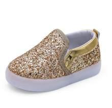Prinses Lente Kinderschoenen Casual LED Schoenen Kid Houden Zacht Shiny Skin Schoenen Meisjes Gloeiende Mode Boot(China)
