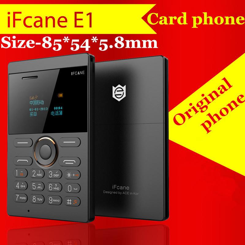 Original IFcane E1 Quad Band Ultra Thin card mobile phone mini pocket students personality children card phone PK aiek M5 @Z(Hong Kong)