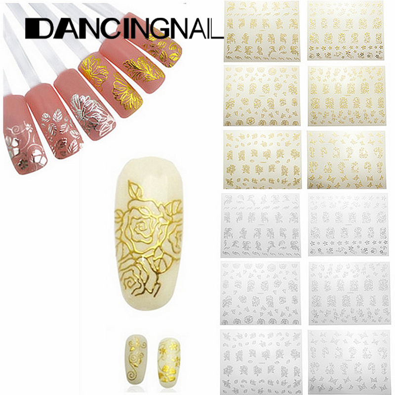 1Sheet Beauty Flower Nail Stickers Manicure Decals Stamping French Nail Art 3D DIY Tips Beauty Tools Many Style To Choose(China (Mainland))