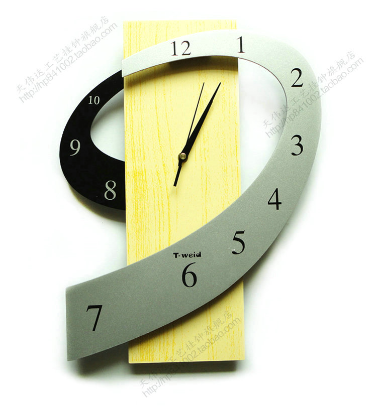 Clock personalized clock cartoon wall clock fashion pocket watch rustic art mute wall clock chinese style
