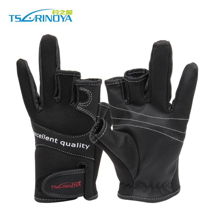перчатки kosadaka неопрен fishing gloves-17 обрез 5 пал черн р l