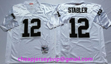 100% Stitiched Oakland Raiders Bo Jackson Jim Plunkett Ken Stabler Marcus Allen Dave Casper Fred Biletnikoff for mens. Throwback(China (Mainland))