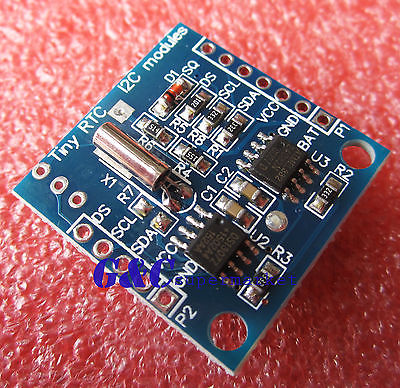 Гаджет  I2C RTC DS1307 AT24C32 Real Time Clock with LIR2032 battery Rechargeable  None Электронные компоненты и материалы