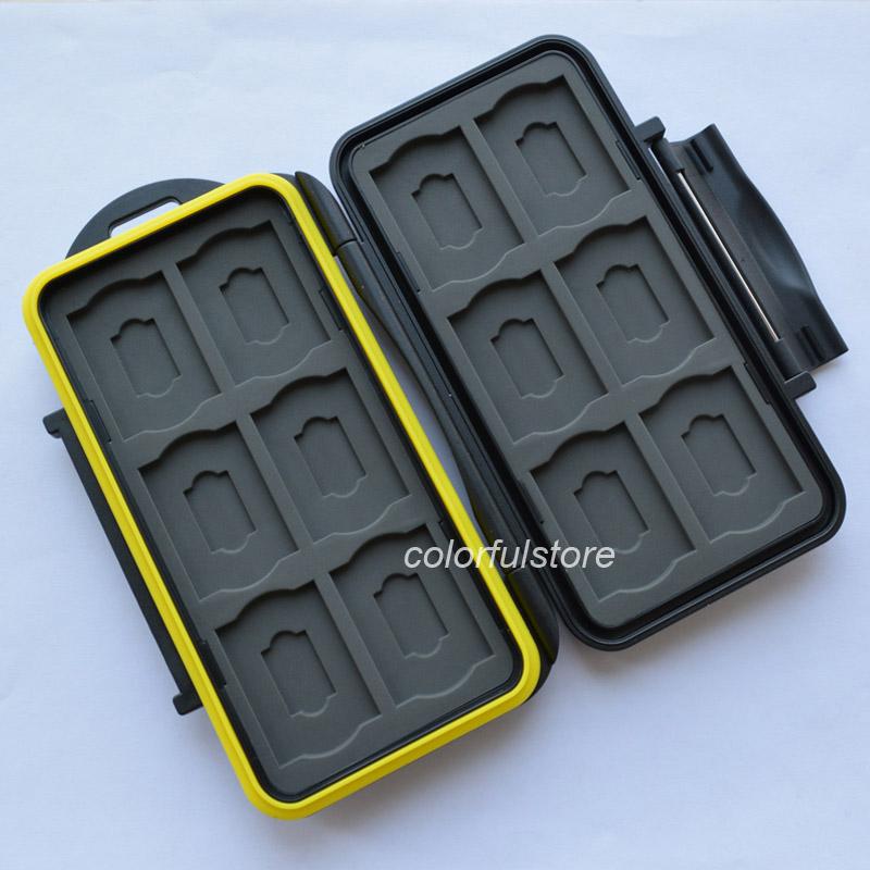 MC-SDMSD24 JJC Portable Waterproof Tough Memory Storage Card Case Box Wallet Holder for 24 Pcs Micro / SD Secure Digital Cards<br><br>Aliexpress