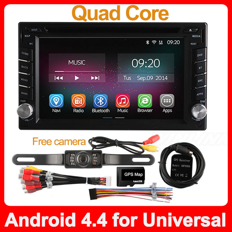 New Quad Core Android 4.4.2 Car Radio Double Din Capacitive Touch Screen Full HD 1080P Stereo DVD Player GPS Navigation System(China (Mainland))