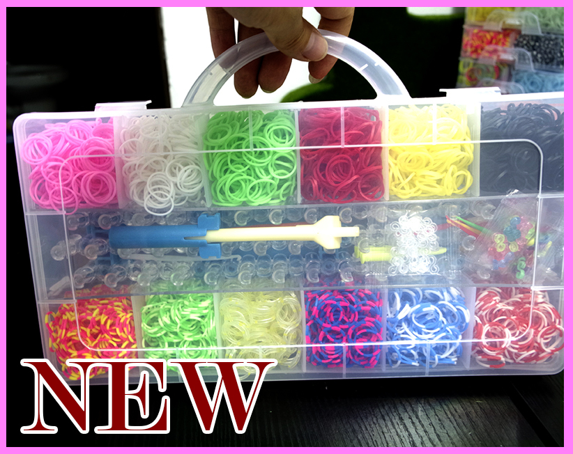 3600pc gum plaiting gum for bracelets DIY Bracelet Silicone Crazy and Fun Family Loom Bands Box Kit Set Refills kids gift(China (Mainland))