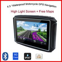 "4.3""Waterproof IPX7 Motorcycle GPS Navigation MOTO navigator with FM bluetooth 8G Flash Prolech MT-4302B GPS Motorcycle(China (Mainland))"