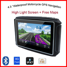 4.3″ waterproof motorcycle gps