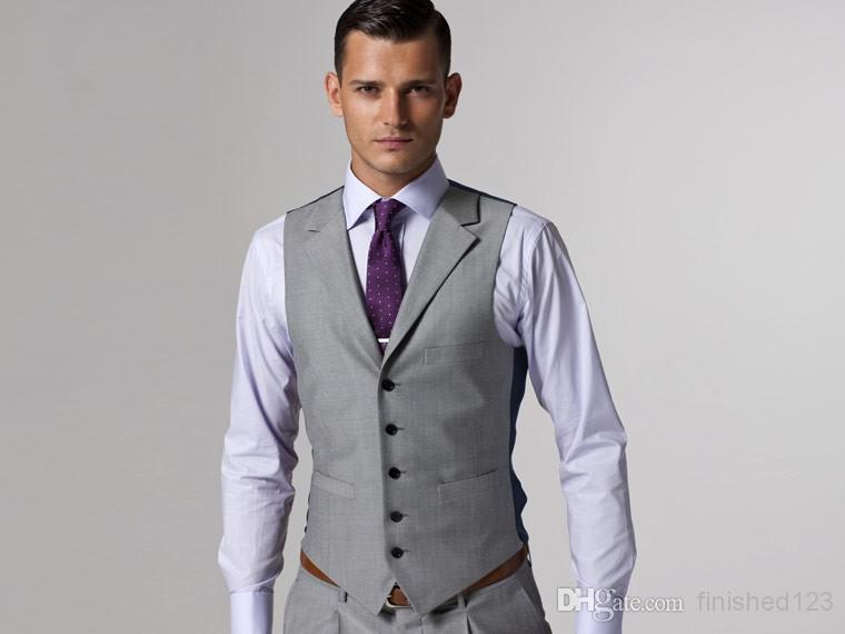 Online Buy Wholesale groom tuxedos gray from China groom tuxedos