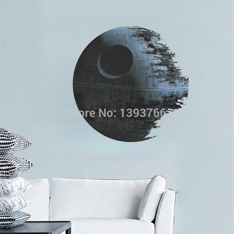 DEATH STAR ARTWORK Star Wars Wall Decal Removable 3d WALL STICKER Home Decor Art Clone(China (Mainland))