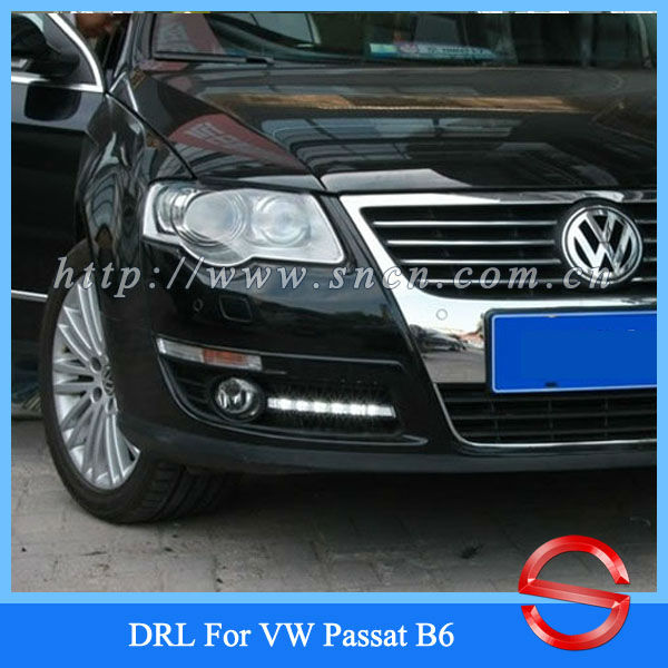 Car styling For VW Volkswagen Passat B6 LED DRL Daytime Running Light with dimmer case ,Free Shipping(China (Mainland))