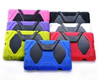 MOQ:1PCS For iPad 2 3 4 Military Extreme Heavy Duty Waterproof Shockproof Defender Case With Stand Case
