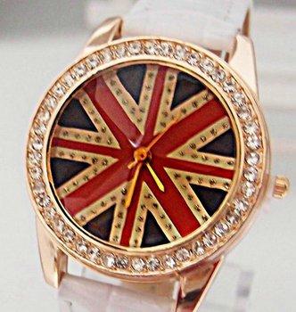 Holiday sale Gogoey UK flag fashion crystal watch Women ladies wholesale wrist quartz watch new arrival  go037