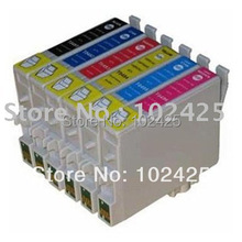 free shipping 24PK Brand new with chip inkjet T0801 – T0806 T0807 ink cartridge compatible EPSON RX585 printer