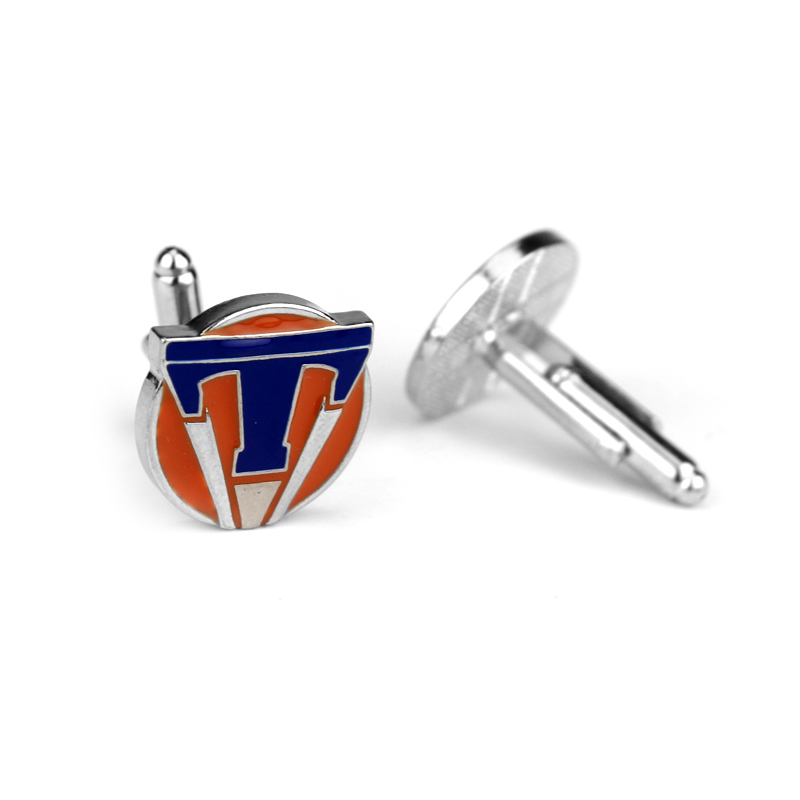 feimeng jewelry Movie Tomorrowland Cufflinks Tomorrow World Badge T Cuff Buttons For Men Fashion Luxury Cuff Links