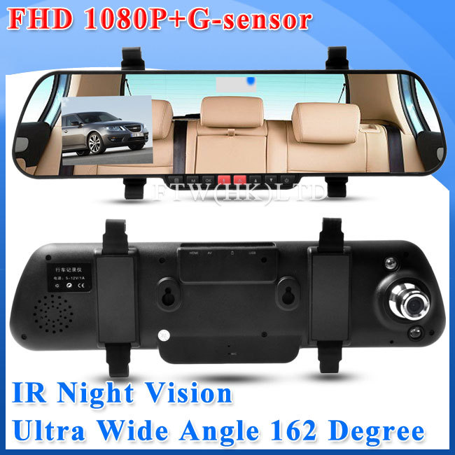 """2.7"""" LCD Screen X11 Rearview Camera Car DVR Mirror 1920*1080P+162 Wide Lens+Optional Bluetooth+Double F8 Super Night Vision(China (Mainland))"""