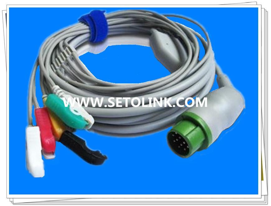KONTRON 12 PIN ECG CABLE CLIP ENDS TPU MATERIAL(China (Mainland))